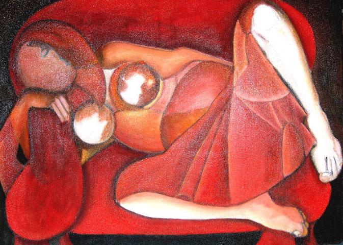Peinture Huile sur toile - 64 x 81 - 2005